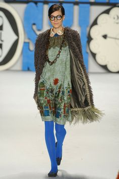 Anna Sui- cool feathery hem on the jacket