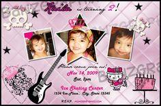 Punk Rock Princess Birthday Invitation Digital File. $12.00, via Etsy.