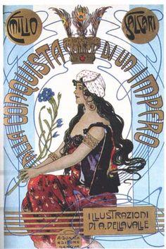 Alla conquista di un impero - 1907 -  Copertina di Alberto Della Valle