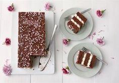 Mokkapalakakku Finnish Recipes, Piece Of Cakes, No Bake Cake, Sweet Recipes, Baking Recipes, Food To Make, Sweet Treats, Food And Drink, Sweets
