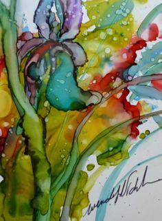 Alcohol Inks on Yupo Wendy Videlock