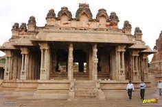 South mandapa in Vithala temple courtyard,  #Hampi #Karnataka #India #IncredibleIndia #Travel #Heritage #WorldHeritage #Gopura