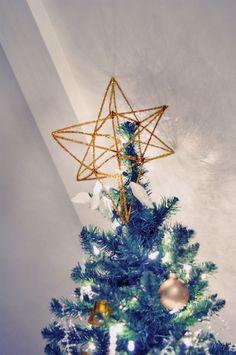 3D Gold Star Tree Topper #DIY  #Christmas