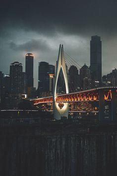 chongqing, china | travel destinations in east asia + city night lights #wanderlust