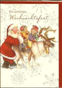 1 Stück Doppelkarte mit Glitter - Lisi Martin - Santa - Kinder - Rentier - pd058 | eBay