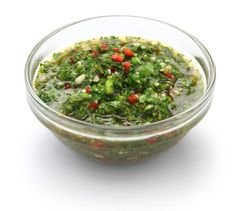 How to Make Argentinian Chimichurri Sauce. Chimichurri sauce is a spicy sauce of a very watery consistency. There are many different recipes for chimichurri, but the key ingredients are. Salsa Bechamel Recetas, Cilantro Recipes, Good Food Channel, Clean Eating, Healthy Eating, Eat Smart, Salsa Verde, Sauce Recipes, Food Dishes