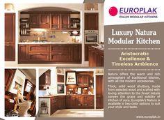 Luxury Natura Modular Kitchen For more details Visit : http://www.europlak.in/