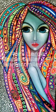 Romina lerda art drawings, pintura graffiti, dot painting, world of color, art Art Pop, Pintura Graffiti, Arte Sketchbook, World Of Color, Dot Painting, Art Plastique, Face Art, African Art, Doodle Art