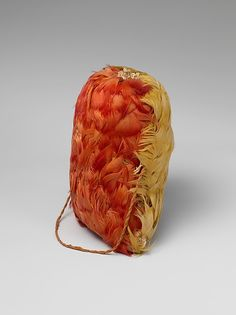 """Feathered Bag"" (ca. 15th-early 16th century). Cotton, feathers. Peru, Inca. Posted on metmuseum.org."