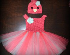 Crochet Fox Tulle Tutu Dress & Matching Hat by CubbyCreations
