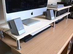 IKEA Hackers: More space on a computer desk
