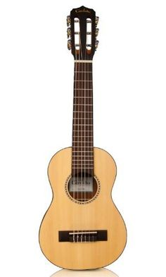 Cordoba Guilele 6-String Acoustic  Nylon Guitar/Ukulele Hybrid by Cordoba Guitars. $199.99. Introducing the new groundbreaking Guilele from Cordoba Guitars! A small guitar with a ukulele sound, feel and size. Considered to be a true travel guitar, this small six string is light, portable and a great way for guitar players to segue into the ukulele world. The Cordoba Guilele is tuned up a 4th (same as a guitar with a capo at the 5th fret - A D G C E A - low to high)and ...