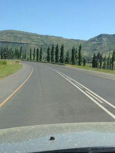 Near Clarens. Free State, Caravan, South Africa, Country Roads, Trees, African, Memories, Places, Beautiful