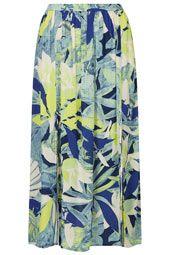 Crayon Forest Midi Skirt