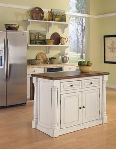 White Portable Kitchen Island our new kitchen cart! i'm in love. real simple® kitchen island in
