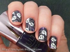 DIY halloween nails: DIY Halloween nail art : Ghost & Goblins