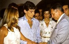 Ayrton Senna & Lilian Vasconcellos de Souza Many do not know, but the greatest idol of Brazilian motorsport, triple world champion of Formula 1 got married when he was 21 years old with his childhood first love!
