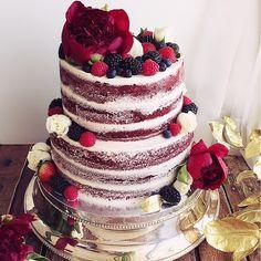 naked cake red velvet wedding - Pesquisa Google