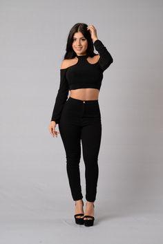 Brooke Top - Black | Fashion Nova