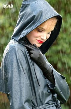 Oh, yes, the sensuality of rubber rainwear - try it, you'll love it and so will your admirers.