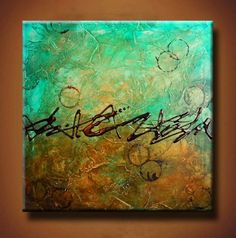 Abstract Painting 24 x 24 Incredible Texture by BrittsFineArt