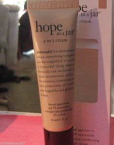 Philosophy Hope In A Jar A To Z Complexion Perfecting BB Cream LIGHT 1oz