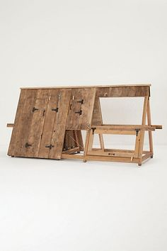 for the fancy chickens I want to own ;-) Backyard Chicken Coop #anthropologie
