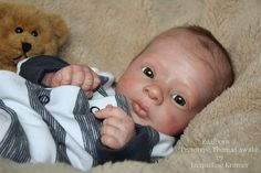 *Jacqueline Kramer*Realborn ® Prototype Thomas awake by Bountiful Baby #Reborn