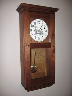 Arts crafts grandfather clock tall case form with for Arts and crafts style wall clock