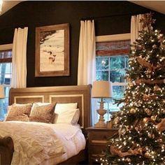 My sweet savannah bedroom at christmas dream rooms, dream bedroom, cozy bed Dream Rooms, Dream Bedroom, Home Bedroom, Master Bedroom, Bedroom Decor, Bedroom Ideas, Gothic Bedroom, Future House, Ideas Hogar