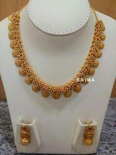 gold plated pure silver temple jewellery1 anita Pinterest