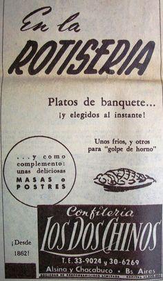 Los Dos Chinos Rotisería 1964