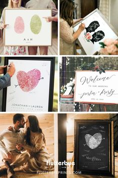 Double the life of your wedding ceremony welcome sign by using it at your reception as a guest book alternative sign.  Modern wedding sings come in unique styles that can do more than just welcome guests at the entrance.  Have some fun with the idea of letting your guests sign on the canvas! #guestbookweddingsigns #weddingsign #receptionsign #modernwedding #weddingsignage #weddingsignideas