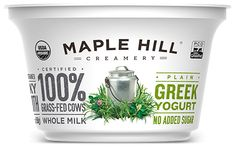 Maple Hill Creamery - 100% Grass-Fed Whole Milk Plain Greek Yogurt. Just our milk and cultures: ultra-creamy perfection.