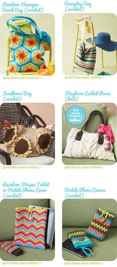 Several Free bag Patterns #crochet and 1 #knit