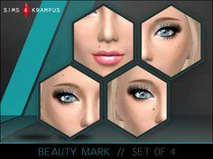 Beauty mark set of 4 at Sims 4 Krampus via Sims 4 Updates