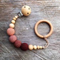 Wooden Pacifier Clip Crochet holder Eco Friendly Baby Teething Pacifier Clip New Mom Baby Shower Gift Dummy Chain Holder bubuline Crochet Pacifier Clip, Baby Shower Gifts, Baby Gifts, Teething Pacifier, Eco Baby, Baby Baby, Pacifier Holder, Pacifier Clips, Baby Girl Pictures