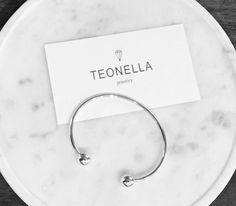 Sterling Silver Ball Bangle From Teonella