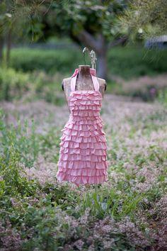 Ruffled Pink Apron!