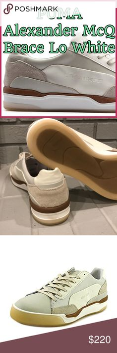 💥💥 Puma Men's 9, Wm's 10 MCQ Move Lo Lace 💥💥 💥💥 NEW White/Silver Birch Puma Men's 9 MCQ Move Lo Lace Unisex. SOLD OUT EVERYWHERE. 🎁EUR 42🎁 Leather upper & lining.💥💥Need i day more.💥💥 New without Box. Never worn. Top seller, Posh Ambassador, Super fast shipping. Puma Shoes Sneakers