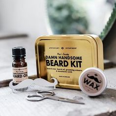 Health & Beauty Tireless Hand Crafted Caveman® Beard Oil Set Kit Beard Oil Aftershave & Pre-shave Balm Free Wooden Beard Comb Beautiful And Charming