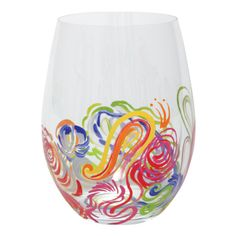Quill Stemless Wine Glass | Hand Painted Stemless Wine Glass|Designs by Lolita | Official Lolita Store