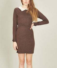 Loving this Mink Brown Ellie Knit Dress on #zulily! #zulilyfinds