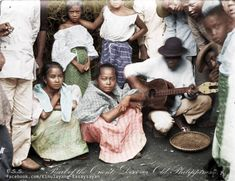 """""""Street Musician in Manila and His Audience, Photo by Edward Barnard Image source: Pearl of the Orient: Discover Old Philippines page Colorized by E. Beach Trip, Beach Vacations, Hawaii Beach, Oahu Hawaii, Beach Hotels, Beach Travel, Beach Resorts, University Of Michigan Library, Philippines Outfit"""