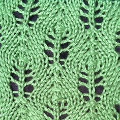 Flower Bud Lace Stitch - Purl Avenue. This is a fantastic website. Purl Avenue has a free stitchionary featuring many patterns, as well as great tutorials, patterns (many free) and links. Well worth checking out.