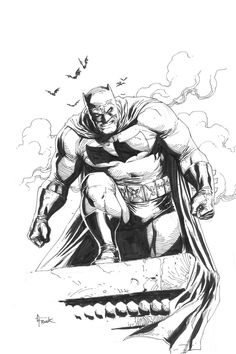 Dark Knight Returns Batman by Gary Frank Comic Art