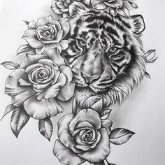 [New] The 10 Best Drawing Ideas Today (with Pictures) - Tiger Tattoo Thigh, Tiger Head Tattoo, Tiger Tattoo Sleeve, Sleeve Tattoos, Animal Thigh Tattoo, Dope Tattoos, Head Tattoos, Body Art Tattoos, Tattoo Ink