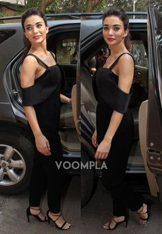 Amy Jackson looking stylish in this black dress... Click Here >> Voompla.com