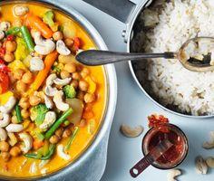 Korma curry med ris