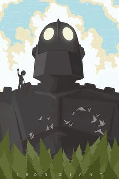 pixalry: The Iron Giant Poster - Created by Michael Rogers Available for sale at his Etsy Shop.